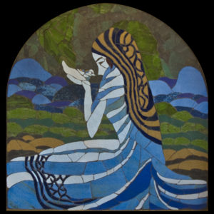 Dove of the Characters collection of fine art mosaics by Valerie Bretl